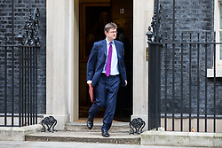© Licensed to London News Pictures. 29/01/2018. London, UK. Secretary of State for Business, Energy and Industrial Strategy Greg Clarke leaving Downing Street after attending a Brexit meeting this morning. Photo credit : Tom Nicholson/LNP