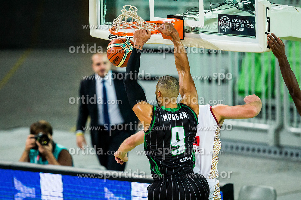 Jordan Morgan of Petrol Olimpija during basketball match between KK Petrol Olimpija Ljubljana and Umana Reyer Venezia (ITA) in Round #5 of FIBA Basketball Champions League 2017/18, on November 7, 2017 in Arena Stozice, Ljubljana, Slovenia. Photo by Vid Ponikvar / Sportida