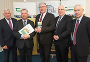 John Lynskey IFA Sheep Chairman, Prof Gerry Boyle Director Teagasc , Minister Tom Hayes,  Micheal Diskin and Frank Hynes Teagasc at the launch of Sheep2015 to be held on Saturday the 20th of June 2015 at the Mellows Campus in Athenry Co. Galway.<br />  Photo by Andrews Downes XPOSURE