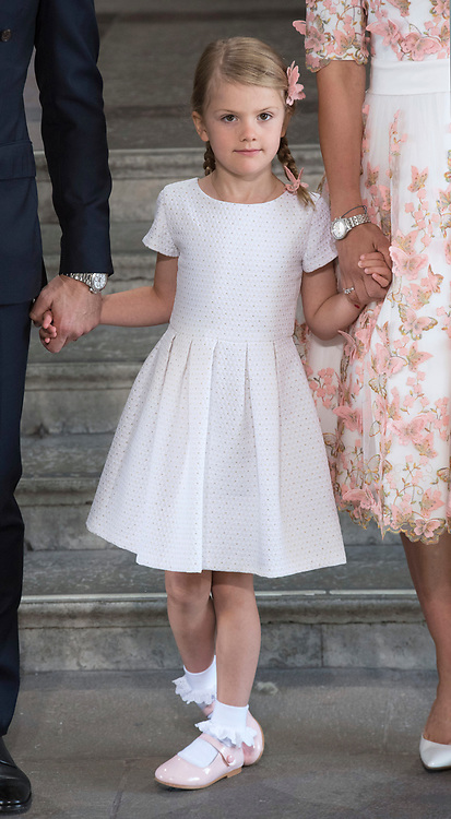 14.07.2017; Stockholm Sweden: PRINCESS ESTELLE<br /> attends the church service to celebrate Crown Princess Victoria&rsquo;s 40th Birthday at the Royal Chapel in Stockholm.<br /> The 5-year-old is the daughter of Crown Prince Victoria of Sweden and Crown Prince Daniel.<br /> Mandatory Photo Credit: &copy;Francis Dias/NEWSPIX INTERNATIONAL<br /> <br /> IMMEDIATE CONFIRMATION OF USAGE REQUIRED:<br /> Newspix International, 31 Chinnery Hill, Bishop's Stortford, ENGLAND CM23 3PS<br /> Tel:+441279 324672  ; Fax: +441279656877<br /> Mobile:  07775681153<br /> e-mail: info@newspixinternational.co.uk<br /> Usage Implies Acceptance of Our Terms &amp; Conditions<br /> Please refer to usage terms. All Fees Payable To Newspix International