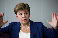 Kristalina Georgieva, European Commissioner for Budget & Human Resources, during an interview in her office in Brussels 19 October 2015. Photo: Erik Luntang