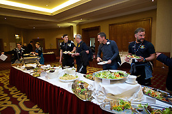 NEWPORT, WALES - Friday, May 29, 2015: Delegates arrive ahead of the Football Association of Wales' National Coaches Conference 2015 at the Celtic Manor Resort. (Pic by David Rawcliffe/Propaganda)