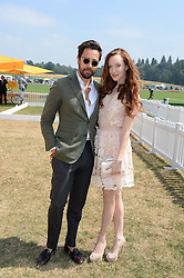 DIEGO BIVERO-VOLPE and OLIVIA GRANT at the Veuve Clicquot Gold Cup, Cowdray Park, Midhurst, West Sussex on 21st July 2013.