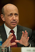Apr 27,2010 - Washington, District of Columbia USA - .Goldman Sachs CEO Lloyd Blankfein testifies at Tuesday's hearing before the Senate Homeland Security and Governmental Affairs subcommittee Hearing on Wall Street and the Financial Crisis. (Credit Image: © Pete Marovich Images)
