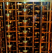 Babbage's Difference Engine, No 1, 1832.  Charles Babbage (1791-1871), an English engineer who originated the concept of a programmable computer.  In 1991, a perfectly functioning difference engine was constructed from his original plans, indicating that Babbage's machine would have worked.