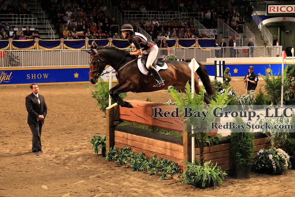 Diana Burnett and Manny at the Good Crop Services Indoor Eventing during the 2009 Royal Agricultural Winter Fair, Toronto, ON