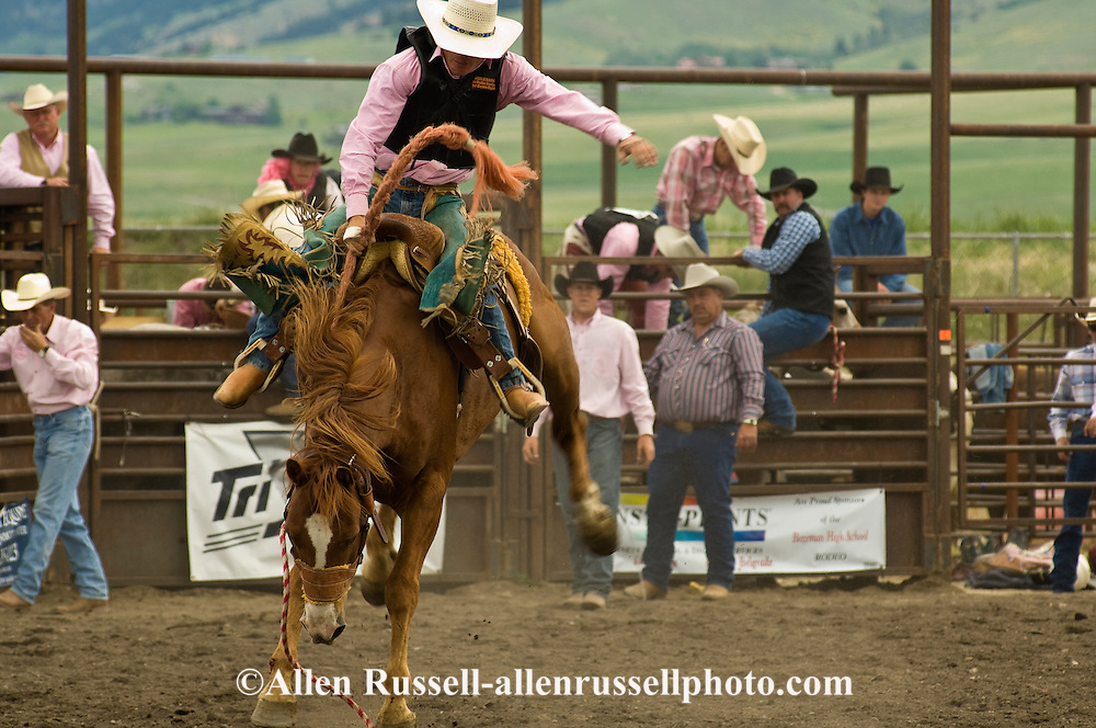 Saddle Bronc Rider, Montana High School Rodeo Finals 2009, Bozeman, Montana