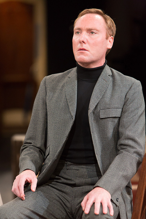 Royal Exchange Theatre production of The Birthday Party by Harold Pinter. Directed by Blanche McIntyre. Cast: PAUL McCLEARY, MAGGIE STEED, ED GAUGHAN, DANUSIA SAMAL, DESMOND BARRIT, KEITH DUNPHY.