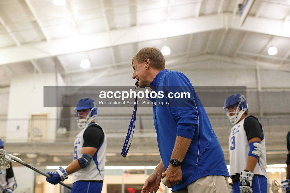 2013 May 23: Head coach John Danowski during a practice session at Maple Zone in Boothwyn, PA.