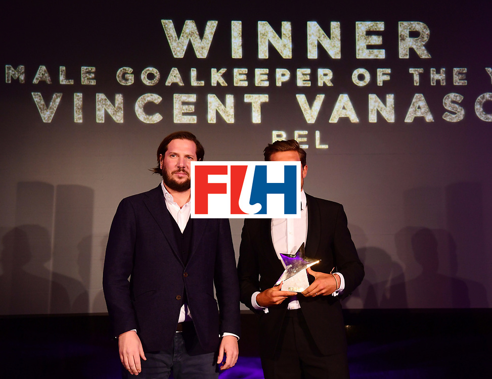 BERLIJN - FIH Hockey Stars Awards<br /> Foto: Male Goalkeeper of the Year<br /> Vincent Vanasch<br /> WORLDSPORTPICS COPYRIGHT FRANK UIJLENBROEK