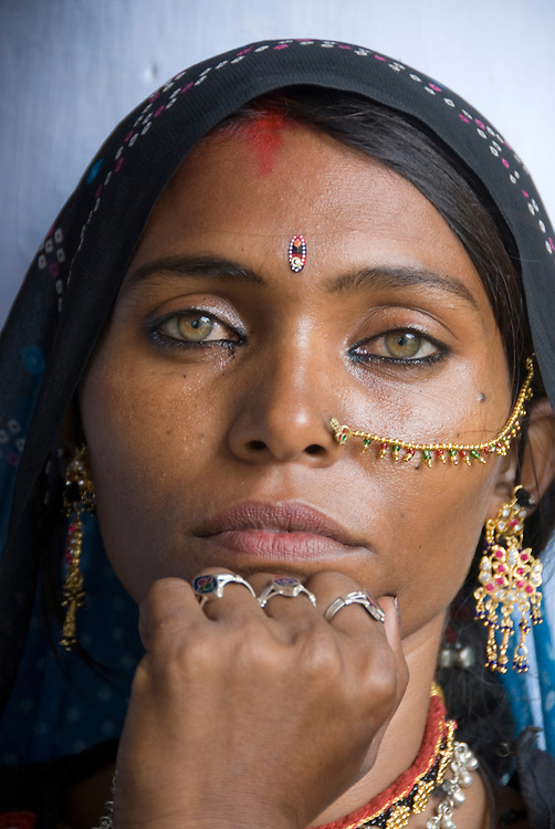 Portrait Of A Beautiful Rajasthani Woman India Let Sch