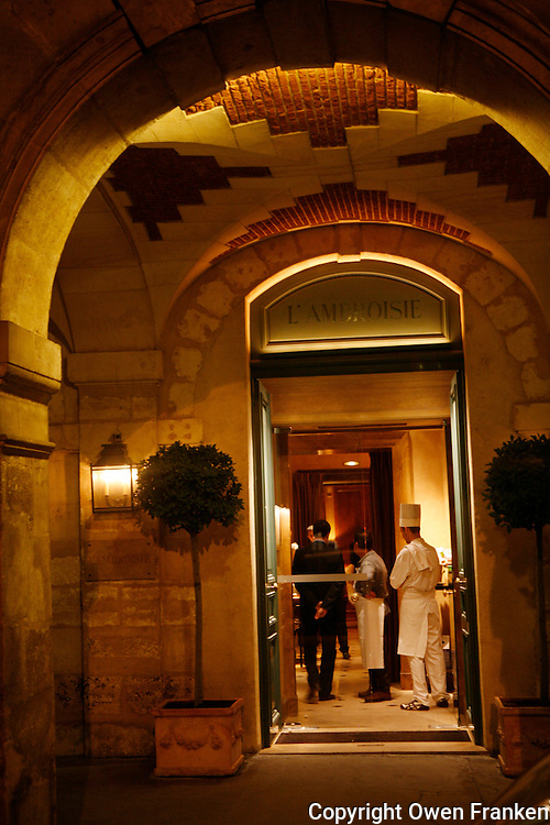 l'Ambroisie, Chef Bernard Pacaud, Place des Vosges, Paris..l'Ambroisie is a Michelin three star restaurant...............