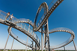 'Turtle and Tiger` pedestrian roller coaster sculpture on Magic Mountain in Duisburg Germany