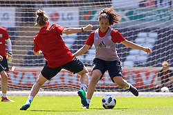 SWANSEA, WALES - Wednesday, June 6, 2018: Wales' Tamsyn Sibanda during a training session at the Liberty Stadium ahead of the FIFA Women's World Cup 2019 Qualifying Round Group 1 match against Bosnia and Herzegovina. (Pic by David Rawcliffe/Propaganda)
