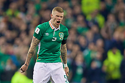 DUBLIN, REPUBLIC OF IRELAND - Friday, March 24, 2017: Republic of Ireland's James McClean reacts during the 2018 FIFA World Cup Qualifying Group D match against Wales at the Aviva Stadium. (Pic by David Rawcliffe/Propaganda)