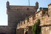 ESSAOUIRA, MOROCCO May 10th 2018 - Skala de la kasbah rampart architecture, Southern Morocco