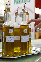 The Saturday market in Uzes, Languedoc, France..October 6, 2007..Photo by Owen Franken for the NY Times...Assignment ID: 30049869AThe Saturday market in Uzes, Languedoc, France..olive oil tasting..October 6, 2007..Photo by Owen Franken for the NY Times...Assignment ID: 30049869A