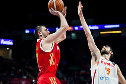 Vitaly Fridzon of Russia vs Joan Sastre of Spain during basketball match between National Teams  Spain and Russia at Day 18 in 3rd place match of the FIBA EuroBasket 2017 at Sinan Erdem Dome in Istanbul, Turkey on September 17, 2017. Photo by Vid Ponikvar / Sportida