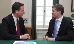 File Picture of Mark Harper with David Cameron, Harper the immigration Minister has resigns. London, United Kingdom. January 7, 2010. Minister Mark Harper has just resigned after being informed that his cleaner was working illegally, in the UK. Picture by Andrew Parsons / i-Images<br /> <br /> Leader of the Conservative Party David Cameron with Mark Harper, Member of Parliament for Forest of Dean in his office in Norman Shaw South, January 7, 2010. Photo By Andrew Parsons / i-Images.