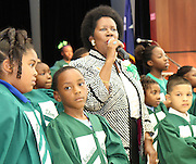 U.S. Rep. Sheila Jackson Lee addresses the crowd at the dedication of Atherton Elmentary.