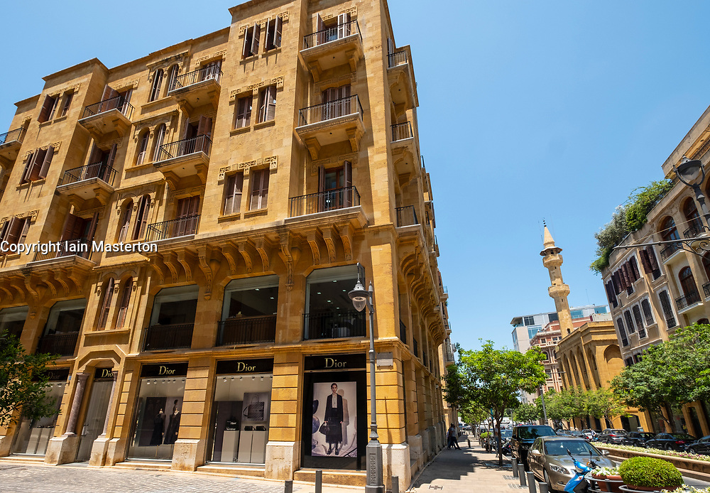 Historic colonial architecture of buildings in Downtown Beirut , Lebanon