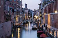 Dorsoduro at Night, Venice, Italy