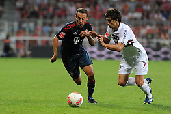 31.07.2013, Allianz Arena, Muenchen, Audi Cup 2013, FC Bayern Muenchen vs Sao Paulo, im Bild, RAFINHA (FC Bayern Muenchen) gegen Rodrigo CAIO (Sao Paulo FC) // during the Audi Cup 2013 match between FC Bayern Muenchen and Sao Paulon at the Allianz Arena, Munich, Germany on 2013/07/31. EXPA Pictures © 2013, PhotoCredit: EXPA/ Eibner/ Wolfgang Stuetzle<br /> <br /> ***** ATTENTION - OUT OF GER *****