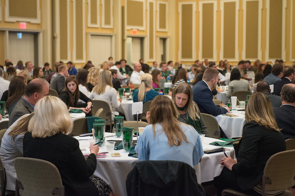 Dozens of attendees take part of the 2016 Schey Sales Symposium held in Baker Center on November 3, 2016.