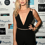 Lilly Douse Arrivers at Nina Naustdal catwalk show SS19/20 collection by The London School of Beauty & Make-up at Bagatelle on 26 Feb 2019, London, UK.