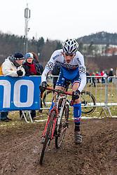 Kristian Zimany (SVK), Men Juniors, Cyclo-cross World Championship Tabor, Czech Republic, 31 January 2015, Photo by Pim Nijland / PelotonPhotos.com
