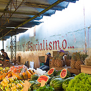 Marketplace in Havana, Cuba with vendors who are part of this new generation of private entreprneurs. Selling organic fruits, vegetables and meats that are transported into Havana.<br /> <br /> For all details about sizes, paper and pricing starting at $85, click &quot;Add to Cart&quot; below.