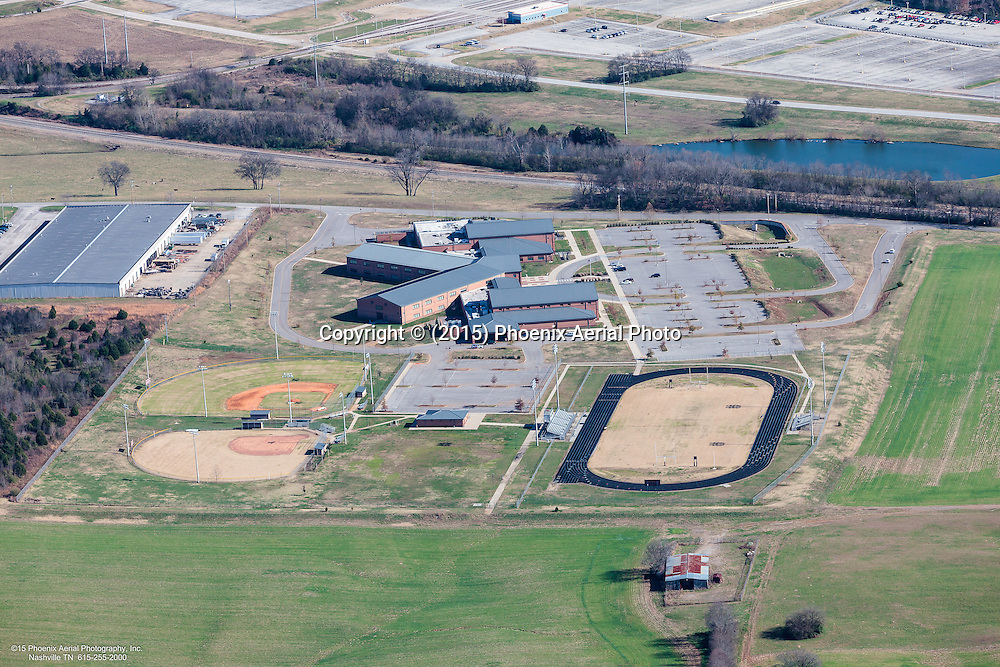 Aerial Photo Of Spring Hill Middle School In Maury County Tennessee Located Adjacent To GM Manufacturing Plant