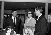 1965 Mim Bennett arrives at Dublin Airport