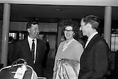 1965 Mim Bennett arrives at Dublin Airport