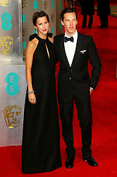 © London News Pictures. Sophie Hunter, Benedict Cumberbatch, EE British Academy Film Awards (BAFTAs), Royal Opera House Covent Garden, London UK, 08 February 2015, Photo by Richard Goldschmidt /LNP