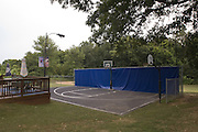 A basketball court, one of the many amenities found at the 8-acre musicians' compound, Thursday, July 26, 2012, at Liquid Sound Studios in Greenville, Ind. (Photo by Brian Bohannon)