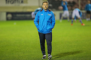 Forest Green Rovers assistant manager, Scott Lindsey during the Vanarama National League match between Solihull Moors and Forest Green Rovers at the Automated Technology Group Stadium, Solihull, United Kingdom on 25 October 2016. Photo by Shane Healey.