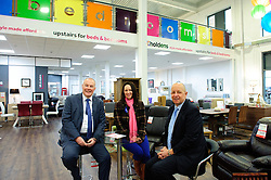 Pictured is, from left, Yorkshire Bank's Commercial Relationship Manager Michael Pickles, Emma Holden, and Jonathan Holden<br /> <br /> Nottinghamshire furniture retailer Holdens has upgraded its premises and opened a new 7,000 square foot flagship store with funding support from Yorkshire Bank.  As the same time, Jonathan and Marion Holden are passing the running of the firm to their daughters Emma and Katie who will become the fourth generation to run the company.<br /> <br /> Date: January 22, 2016<br /> Picture: Chris Vaughan/Chris Vaughan Photography