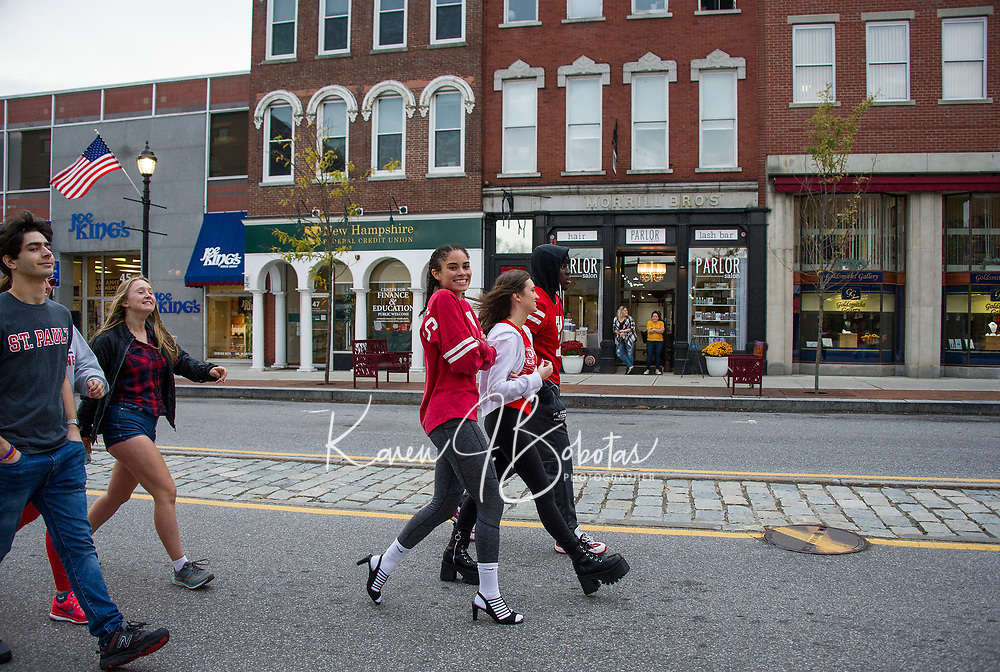 "St Paul's School at ""Walk a Mile in Her Shoes"" event Concord, NH.    ©2019 Karen Bobotas Photographer"