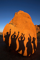 Fun with shadows, Spitzkoppe Mountains, Namibia.