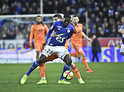 March 9, 2019 - Strasbourg, France - Aouar Houssem vs Fofana (Credit Image: © Panoramic via ZUMA Press)