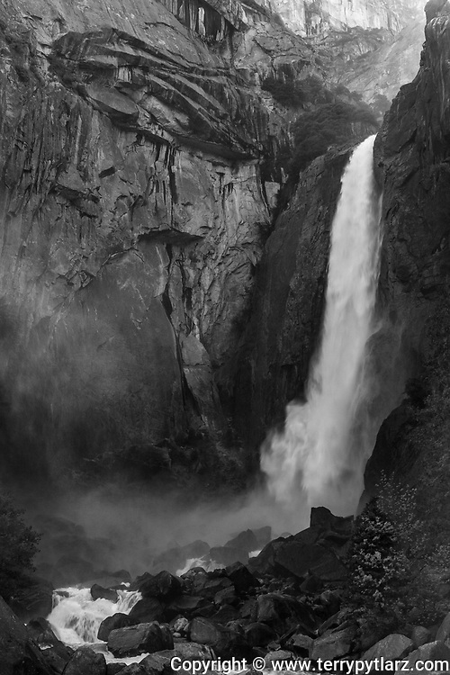 Yosemite National Park black and white