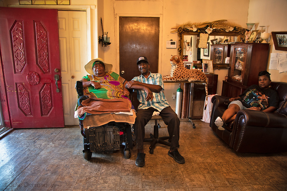 The Harris family, long-time residenta of St. James, is in constant fear she and her family will be trapped in case of an industrial accident or storm due to the lack of emergency evacuation route from the town
