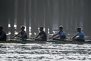 Putney, London,  Tideway Week, Championship Course. River Thames, OUBC, Oxford<br /> Right to Left.  4: Joshua Bugaski, 5: Olivier Siegelaar – NED, 6: Michael DiSanto – USA. 7: James Cook , Stroke: Vassilis Ragoussis,<br /> <br /> Tuesday  28/03/2017<br /> [Mandatory Credit; Credit: Peter Spurrier/Intersport Images.com ]