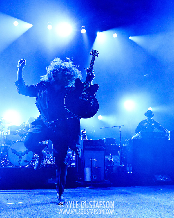 COLUMBIA, MD, - August 12th, 2011 - My Morning Jacket wow fans at Merriweather Post Pavilion with a 24 song, 3 hour set. The band is currently touring behind their sixth studio album, Circuital, which was released in May.  (Photo by Kyle Gustafson/FTWP)