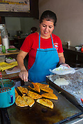 Taco maker, Vallarta Food Tours, El Pitillal, Puerto Vallarta, Jalisco, Mexico