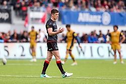 Owen Farrell (capt) of Saracens looks on - Rogan Thomson/JMP - 29/04/2017 - RUGBY UNION - Allianz Park - London, England - Saracens v Bristol Rugby - Aviva Premiership.