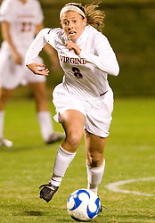Virginia midfielder/defender Alli Fries (8)..The Virginia Cavaliers defeated the Loyola (MD) Greyhounds 4-1 in the first round of the NCAA Women's Soccer tournament held at Klockner Stadium in Charlottesville, VA on November 16, 2007.