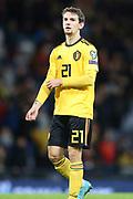 Belgium forward Benito Raman (21) (Fortuna Dusseldorf) during the UEFA European 2020 Qualifier match between Scotland and Belgium at Hampden Park, Glasgow, United Kingdom on 9 September 2019.