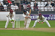 Middlesex's Paul Stirling goes on the attack during the Specsavers County Champ Div 1 match between Somerset County Cricket Club and Middlesex County Cricket Club at the Cooper Associates County Ground, Taunton, United Kingdom on 26 September 2017. Photo by Graham Hunt.